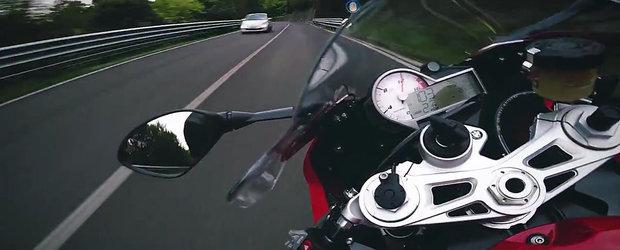 Cum se conduce o motocicleta BMW S1000RR ca pe circuit, pe drumurile publice