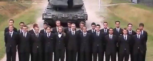 Cum se testeaza franele unui tanc de 50 de tone?
