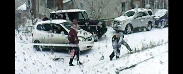 Cum se vede iarna de la volan... in Rusia!