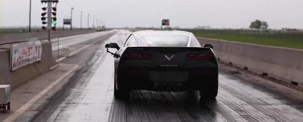 Curiozitatea Zilei: Cat scoate noul Corvette Stingray pe sfertul de mila?