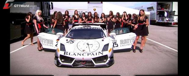 Curiozitatea Zilei: Cate fete incap intr-un Lamborghini de curse