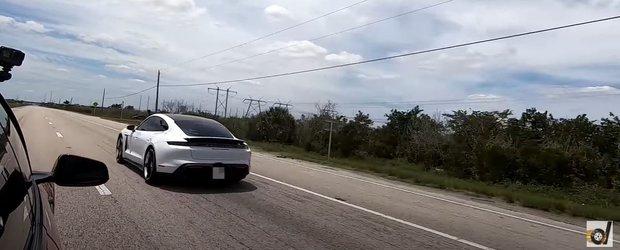 Cursa care pune capat tuturor certurilor: Porsche Taycan Turbo S vs Tesla Model S cu cel mai recent update de soft