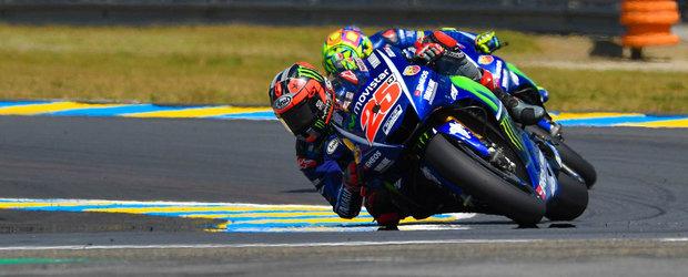 Cursa cu de toate in Franta. Vinales castiga dupa ce Rossi a cazut in ultimul tur
