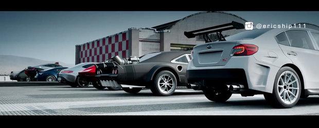 Cursa de acceleratie cu masinile din filmul The Fate of the Furious. Castiga cea mai rapida masina pe distanta de o mila