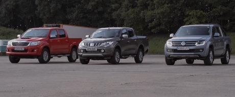 Cursa de acceleratie intre... camionete: L200 vs Amarok vs HiLux