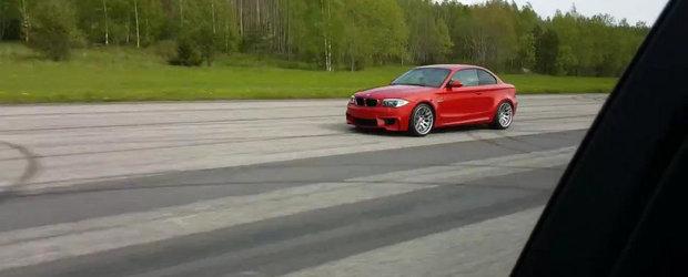 Cursa dintre BMW X5 M si 1M Coupe ne arata ca, uneori, puterea inseamna totul