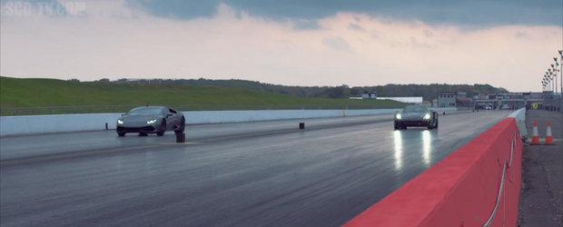 Cursa dintre Lamborghini Huracan si Porsche 918 Spyder se incheie cu o surpriza uriasa