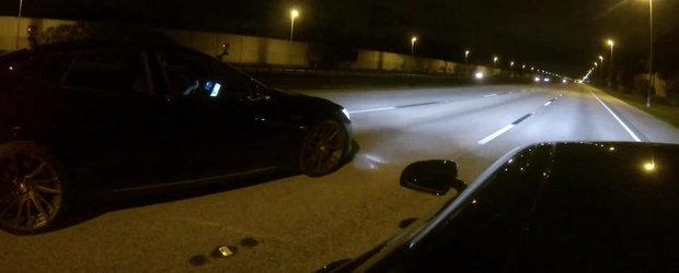 Cursa dintre Tesla P85D si Mercedes AMG GT S se lasa cu surprize neasteptate