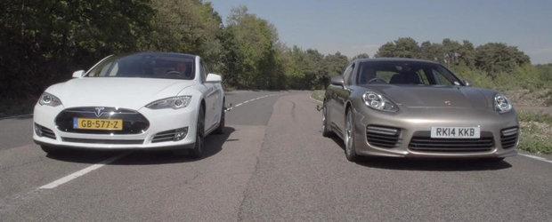 Cursa dintre Tesla P85D si Panamera Turbo S ne arata ca puterea NU e totul