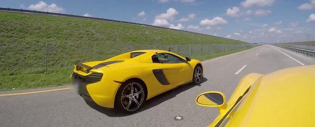 Cursa dintre un Dodge Viper si un McLaren 650S e castigata de... tehnologie