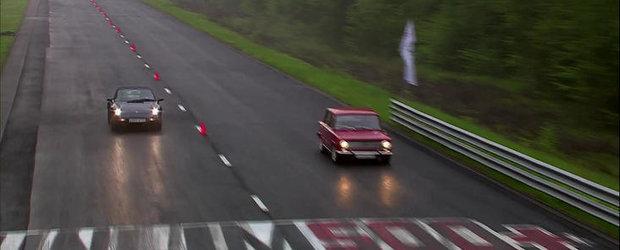 Cursa memorabila intre o Lada de 240 CP si un Porsche 993 Carrera