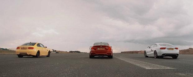 Cursa pe asfalt ud dintre RS5, M3 si M4 nu poate avea decat un singur castigator