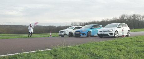 Cursa pe care ai asteptat-o de la bun inceput. Noul Focus RS se ia la intrecere cu A45 AMG si Golf R