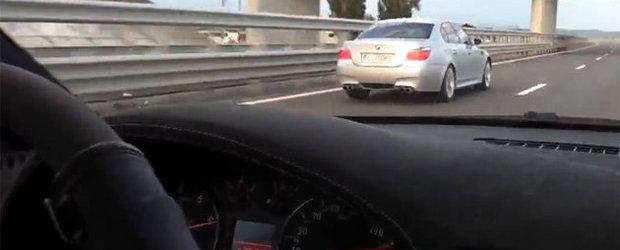 Curse ilegale: cu peste 300 km/h pe Autostrada Transilvania