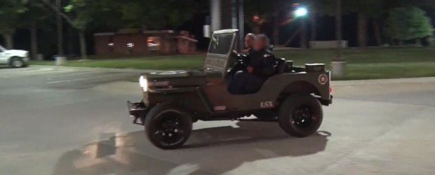 Curse ilegale: Jeep de armata vs. Nissan GT-R de 950 cp