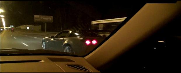 Curse Ilegale: Porsche 911 Turbo (950 CP) vs. Chevrolet Corvette Z06 (600 CP)