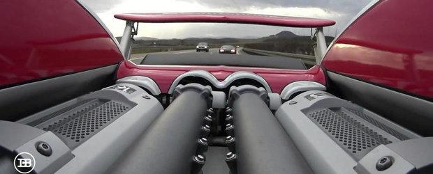 Curse la 300+ km/h: Doua Bugatti-uri se intrec pe autostrada germana