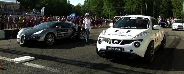 Curse Legale: Bugatti Veyron versus Nissan Juke de 700 CP