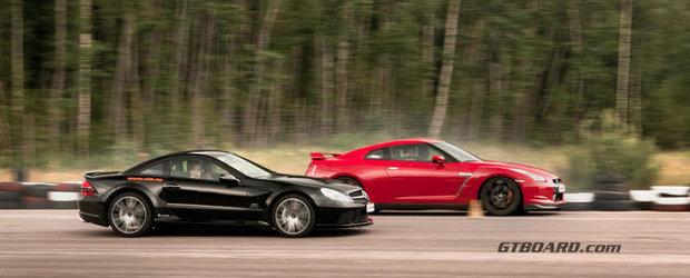 Curse Legale: Nissan GT-R si Mercedes SL65 AMG Black Series, fata-n fata la linia de start