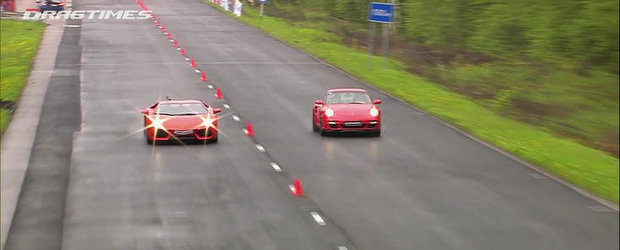 Curse Legale: Noul Aventador provoaca la duel un 911 Turbo de 950 CP