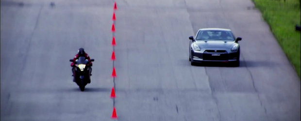 Curse Legale: Suzuki Hayabusa provoaca la duel un Nissan GT-R de 850 cai putere