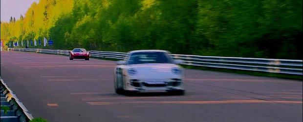 Curse Legale: Ultimul Porsche 911 Turbo S spulbera noul Ferrari 458 Italia