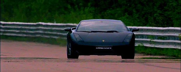 Curse Legale: Un Gallardo Twin-Turbo se ia la intrecere cu doua 911 Turbo, atinge 350 km/h