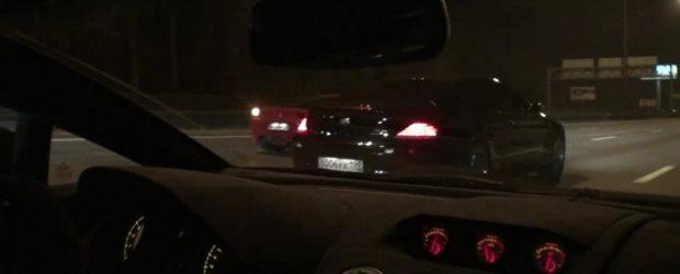Curse nocturne si ilegale in Rusia: 458 Italia vs. Evotech M6 vs. Gallardo Superleggera