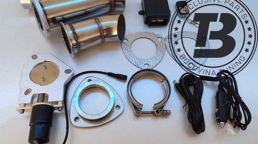 Cut off valve Clapeta cut off din INOX pentru evacuare 3 inch / 76 mm cu telecomanda