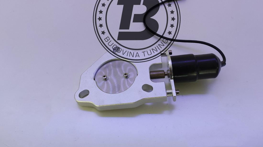 Cut off valve Clapeta cut off din INOX pentru evacuare 2.5 inch / 63 mm cu telecomanda