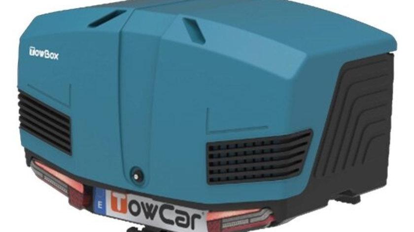 Cutie portbagaj cu Prindere pe Carligul de Remorcare auto Towbox V3 Marine Albastru