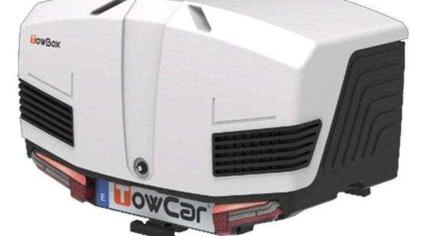 Cutie portbagaj cu Prindere pe Carligul de Remorcare auto Towbox V3 Arctic Alb