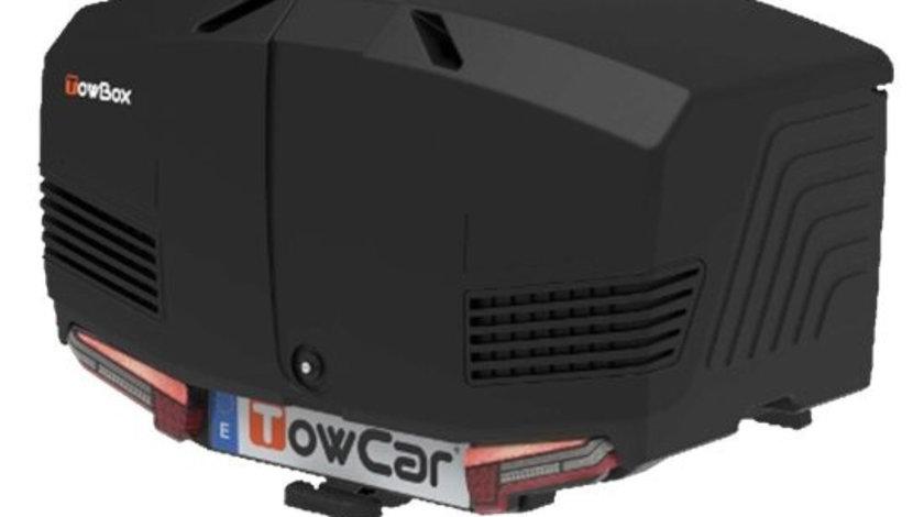 Cutie portbagaj cu Prindere pe Carligul de Remorcare auto Towbox V3 Urban Negru
