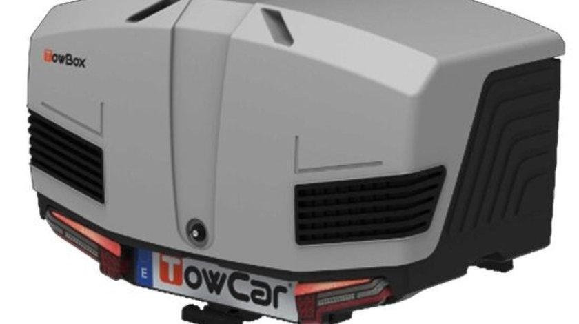 Cutie portbagaj cu Prindere pe Carligul de Remorcare auto Towbox V3 Classic Gri