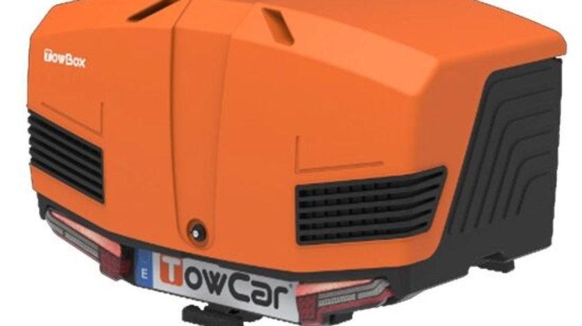 Cutie portbagaj cu Prindere pe Carligul de Remorcare auto Towbox V3 Sport Portocaliu