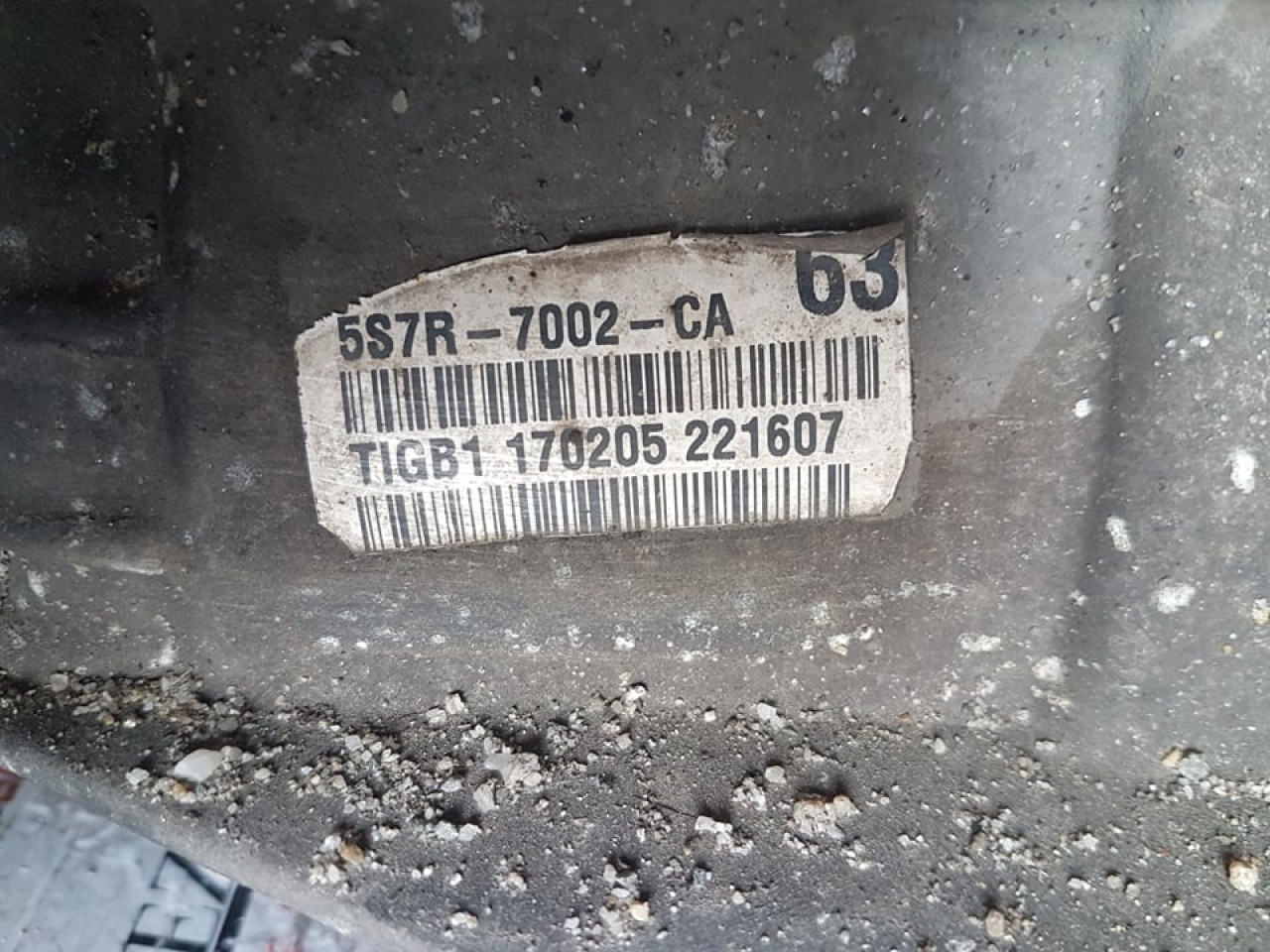 Cutie viteze manuala 6 trepte ford mondeo mk3 2.2 tdci 5S7R-7002-CA