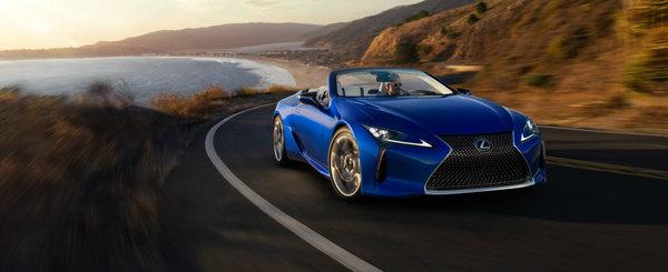 Cuvintele nu pot descrie cat de bine arata noul Lexus LC500 Convertible