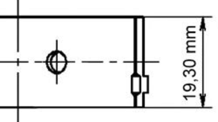 Cuzineti biela OPEL ASTRA G Hatchback (F48, F08) (1998 - 2009) KOLBENSCHMIDT 77272620 piesa NOUA