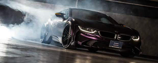 Daca Batman are o masina, acum a primit si Joker un BMW i8 tunat in Japonia