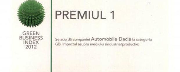 Dacia a fost in 2011 compania cu cea mai mare reducere a impactului asupra mediului