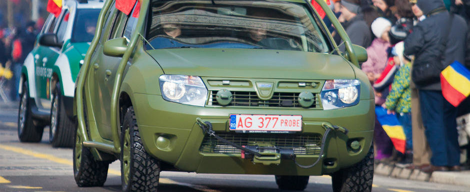 Dacia Duster blindata, in dotarea MAPN