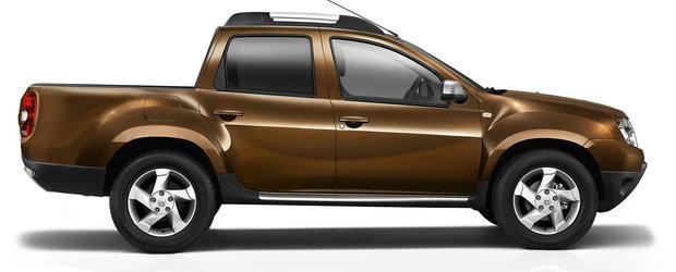 Dacia Duster pick-up cu 4 usi, surprinsa in teste la Pitesti
