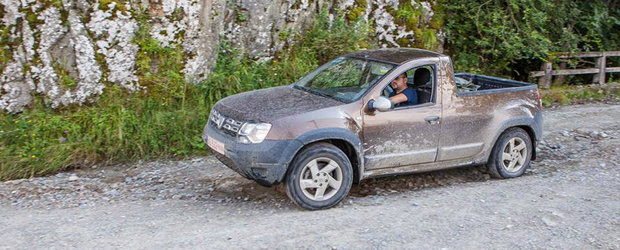 Dacia Duster Pick-up, testata pe Transfagarasan