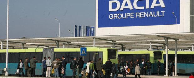 Dacia intrerupe productia de la Mioveni pentru doua zile