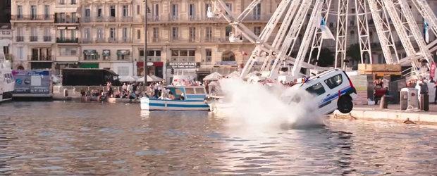 """DACIA LOGAN e """"vedeta mare"""" in TAXI 5! Cum apare masina romaneasca in noul film"""
