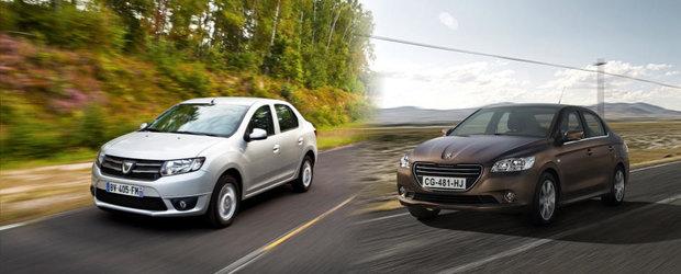 Dacia Logan vs. Peugeot 301: oglinda, oglinjoara?