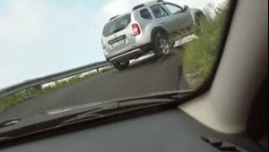dacia on the road