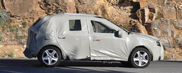 Dacia Sandero 2013 - primele poze spion cu Sandero 2