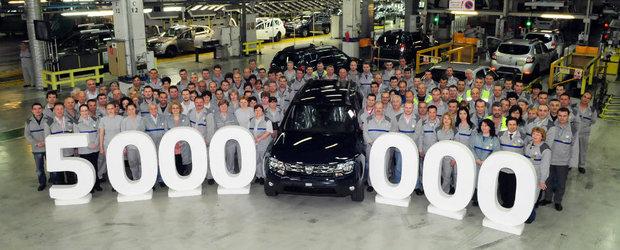 Dacia sarbatoreste cele 5 milioane de autoturisme fabricate