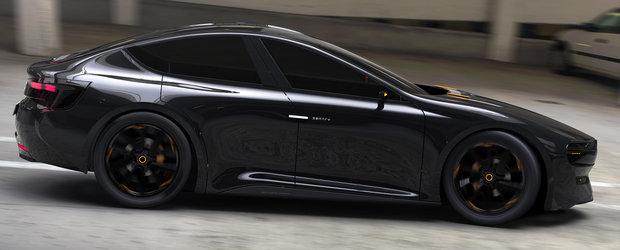 Dacia Sentry este super-coupe-ul cu patru portiere si propulsie electrica pe care fiecare roman vrea sa-l vada in lumea reala